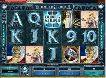 Click to Play Thunderstruck II slot at Jackpot City Casino
