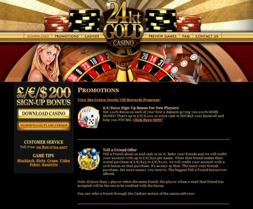 24kt Gold Casino Lobby