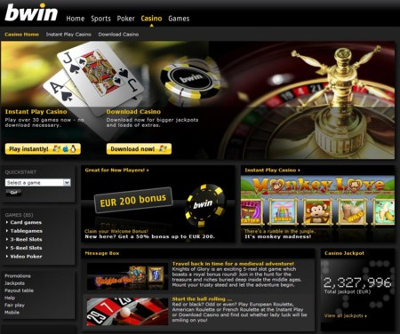 Bwin Casino Lobby