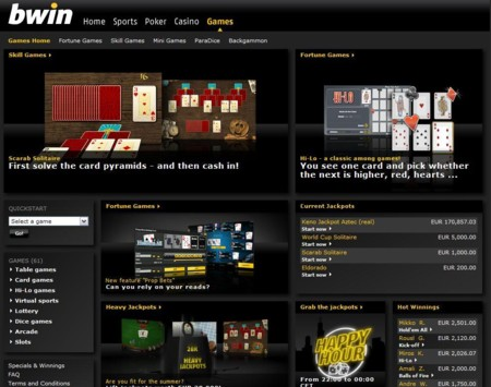 Bwin Games Lobby