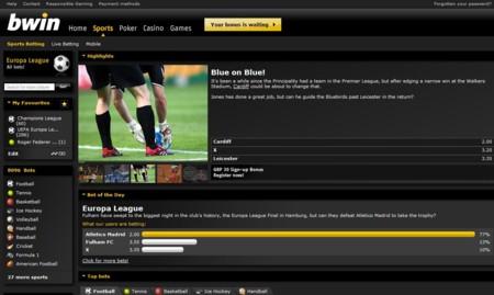 Bwin Sportsbook Lobby
