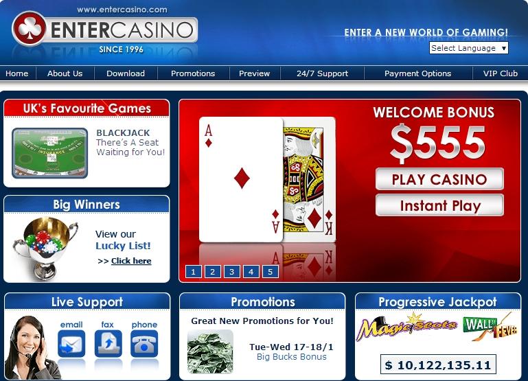 Enter Casino Lobby