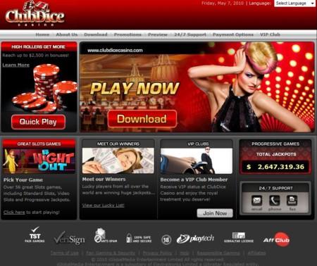 Club Dice Casino  Lobby