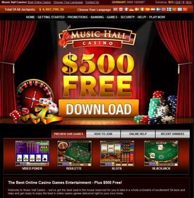 Music Hall Casino Lobby