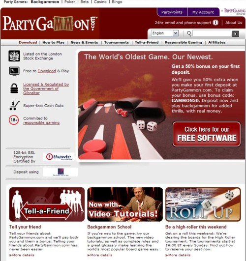 Party Gammon Lobby