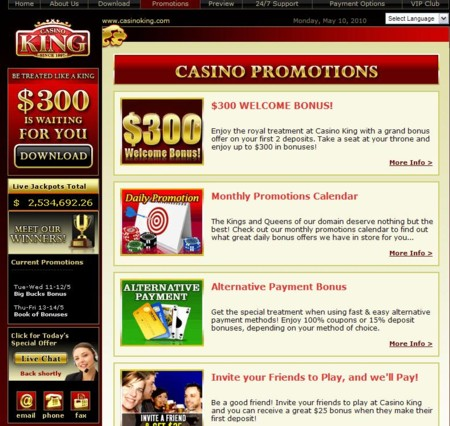 Casino King Lobby
