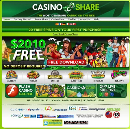 Casino Share  Lobby