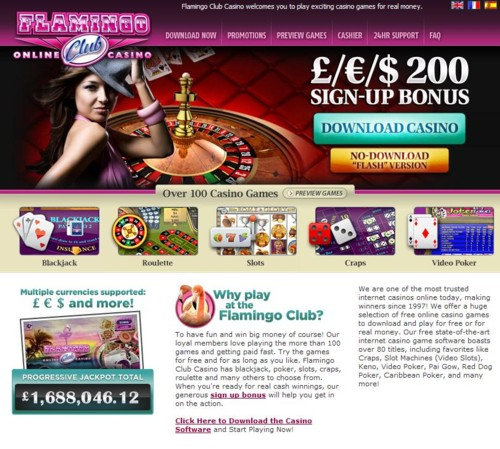 Flamingo Club Casino Lobby