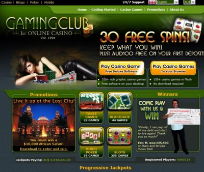The Gaming Club Casino Lobby