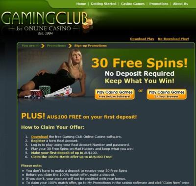 The Gaming Club Casino Lobby