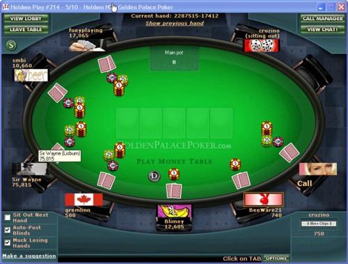 Golden Palace Poker Lobby