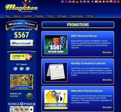 Magic Box Casino Lobby