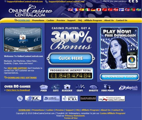 Online Casino Central Lobby